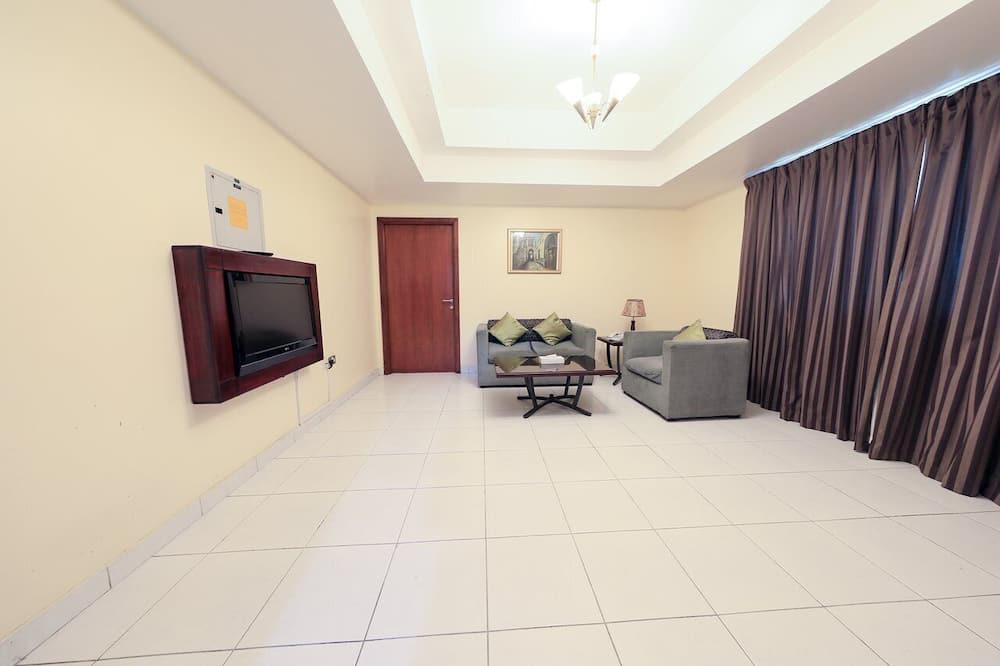 Апартаменты «Делюкс», 1 спальня, вид на город - Гостиная