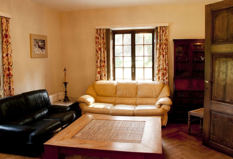 Detached Holiday Home in a Castle Park Near the Center of Huy, Huy, غرفة معيشة