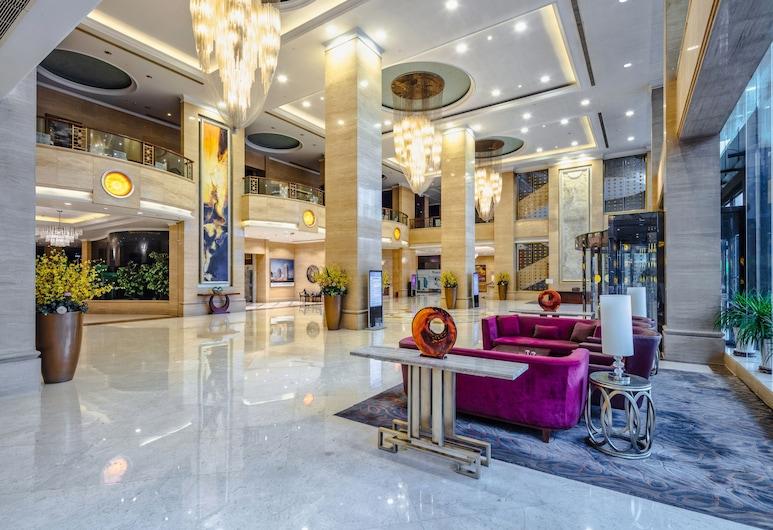 Yungang Jianguo Hotel, Datong, Zona con asientos del vestíbulo