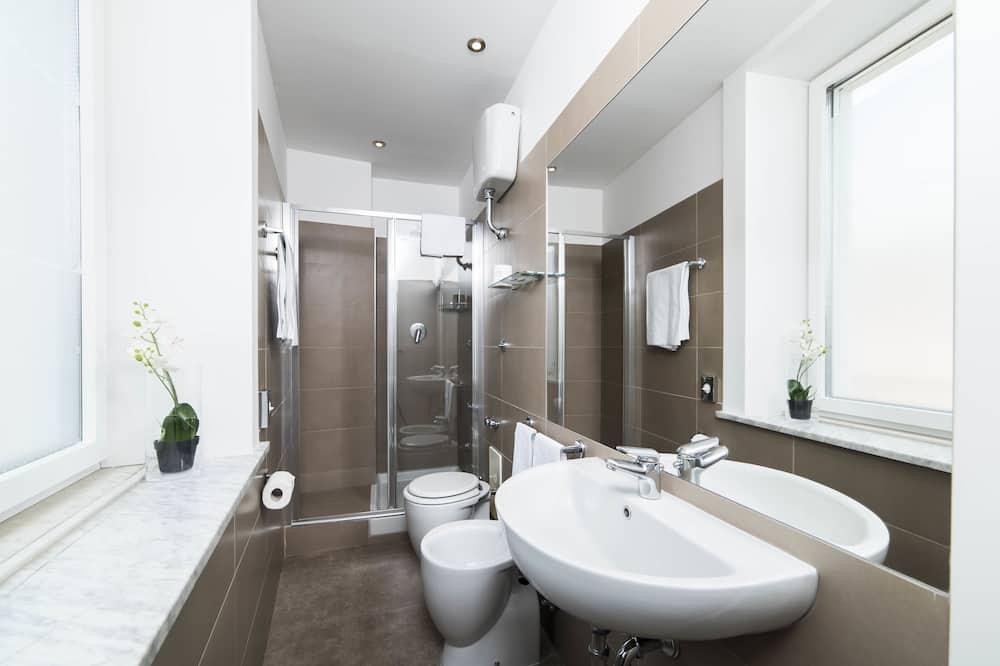 Chambre Double Classique, 2 lits une place - Salle de bain
