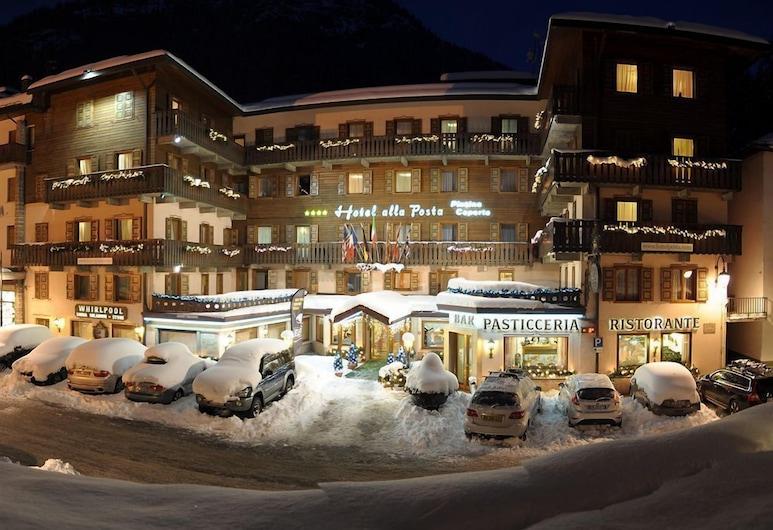 Hotel alla Posta, Alleghe, Hotel Front – Evening/Night