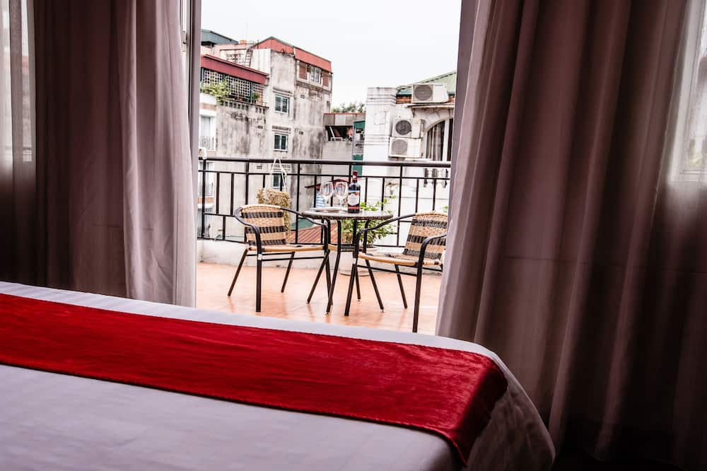 Luxury-Doppelzimmer, Stadtblick - Blick vom Balkon