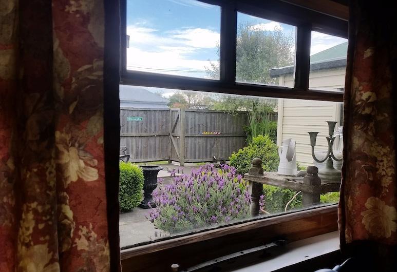 Designer Cottage B&B, Christchurch, Basic-Einzelzimmer, 1Einzelbett, Gemeinschaftsbad, Gartenblick, Ausblick vom Zimmer
