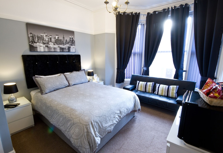 Rossall House, Blackpool, חדר משפחתי (Deluxe), חדר אורחים