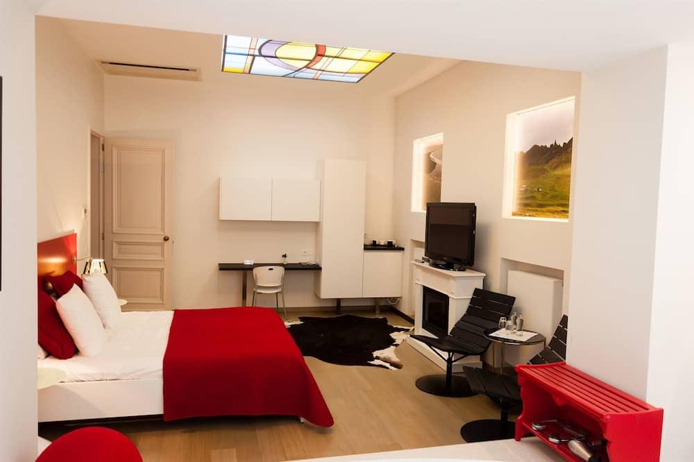 Deluxe-Doppelzimmer, Balkon - Wohnzimmer