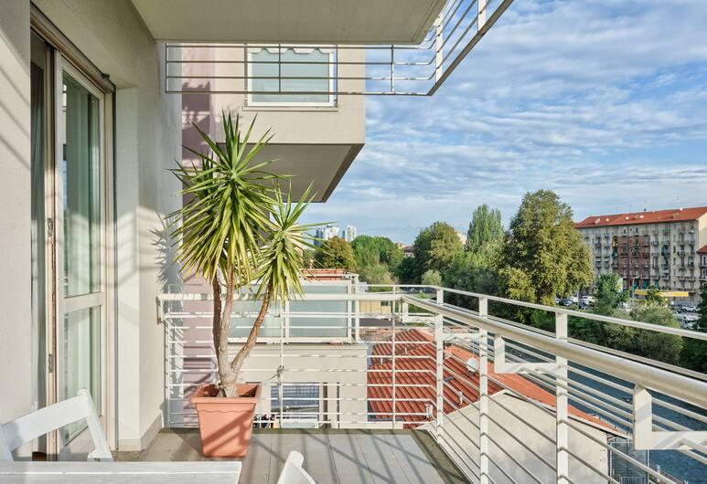 B&B Balôn, Torino, Appartamento Comfort, vista fiume, Terrazza/Patio