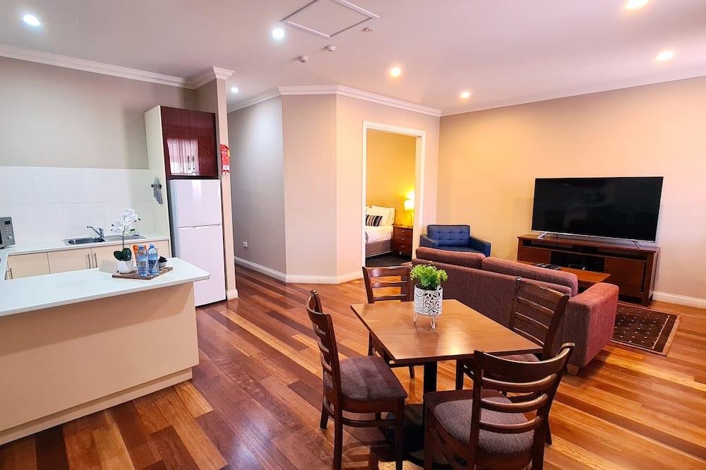 Two Bedroom Family Apartment - Balcony - Living Area