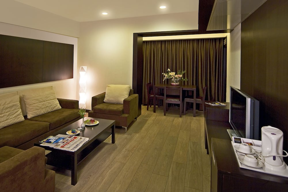Deluxe-huone - Oleskelualue