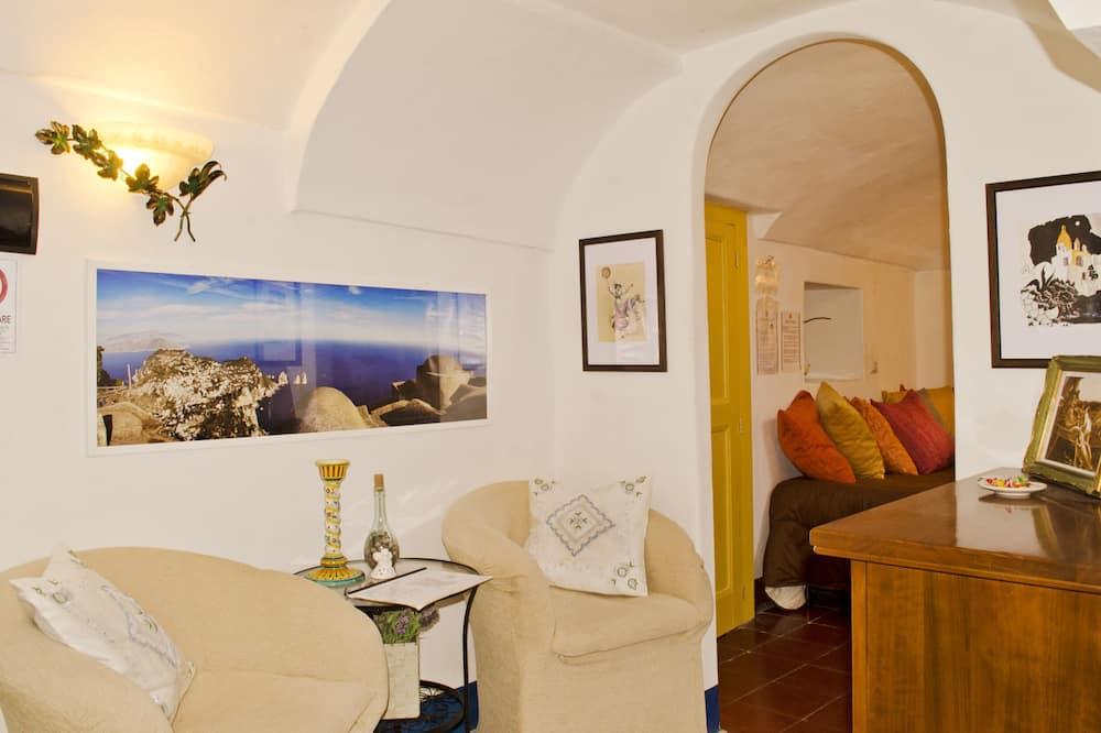 Habitación doble, terraza - Sala de estar