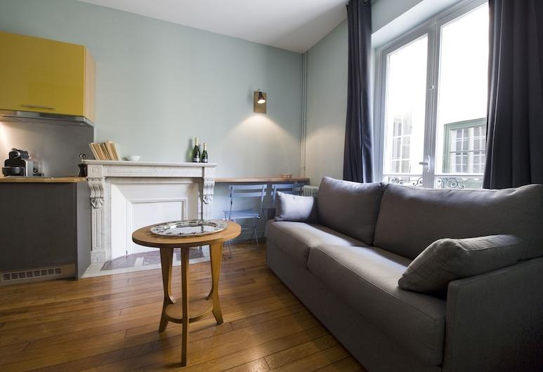 Helzear Montparnasse Suites, Paris, Suite, 1 soverom, tekjøkken, Stue