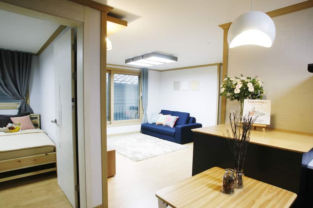 特級公寓, 2 間臥室, 非吸煙房, 相連客房 - 客廳