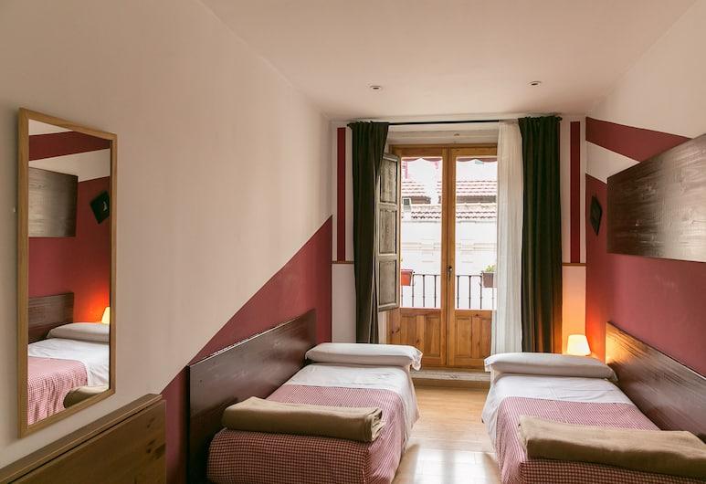 Hostal La Casa de la Plaza, Madrid, Chambre Standard, 2 lits une place, salle de bains commune, Chambre