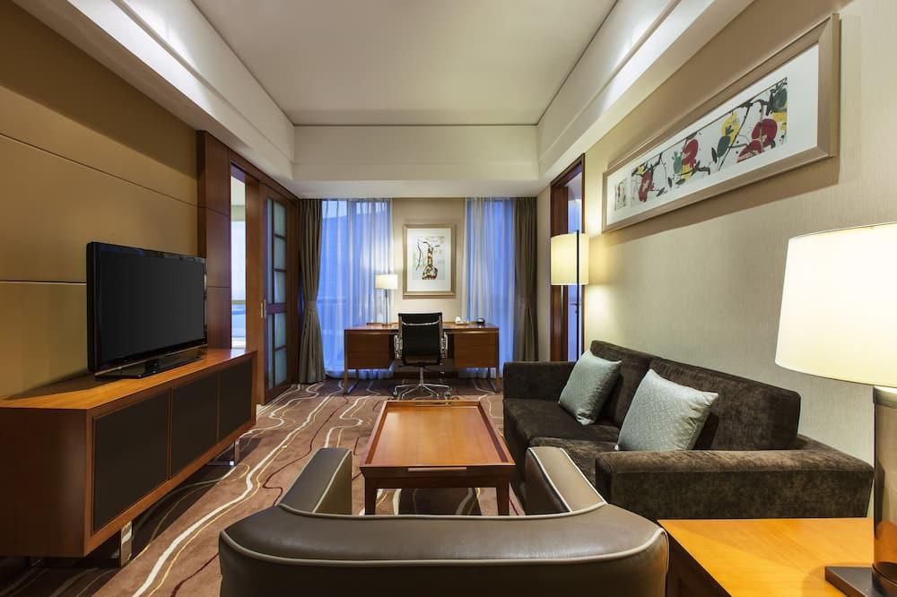 Premium Suite, 1 Bedroom, Non Smoking, City View - Living Area