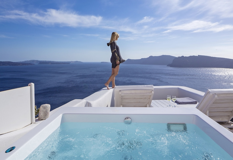 White Pearl Villas, Santorini, Villa, Jetted Tub, Sea View (Full Moon Villa  Outdoor Plunge Pool), Terrace/Patio