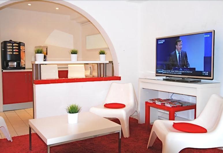 Nice Art Hotel - Hostel, Nice, Salon de la réception