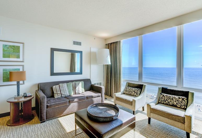 Oceanaire by Diamond Resorts, Virginia Beach, Suite, 1 Bedroom, Oceanfront, Living Room