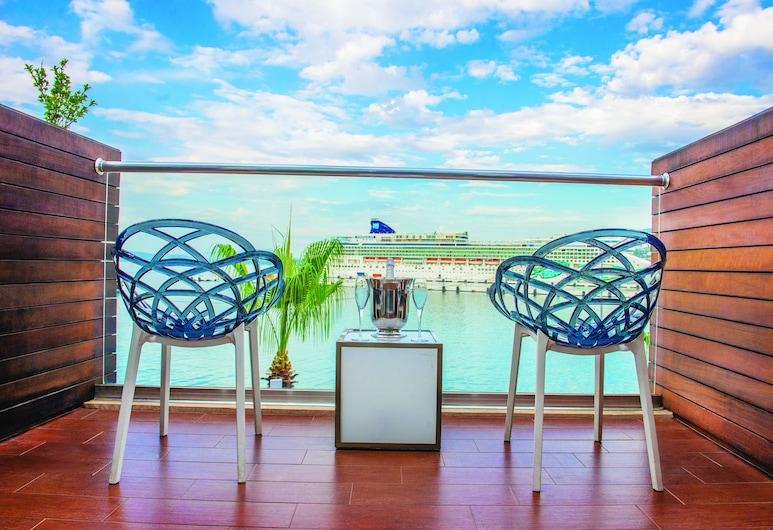 埃菲精品酒店, 庫沙達西, 標準雙人或雙床房, 海景, 陽台