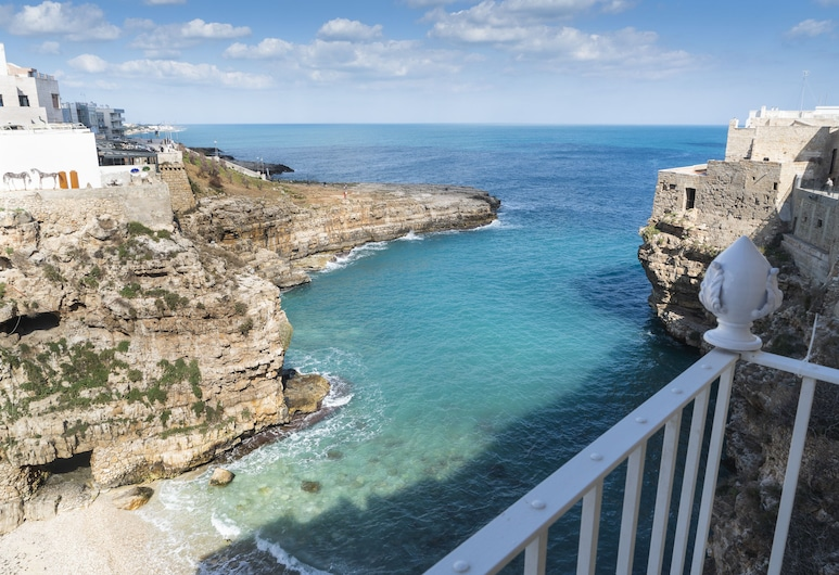 Antico Mondo, Polignano a Mare, Superior-Suite, 1King-Bett, Badewanne, Meerseite, Balkon