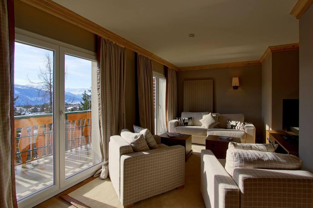 Phòng Suite Royal, Ban công, Quang cảnh núi - Phòng khách