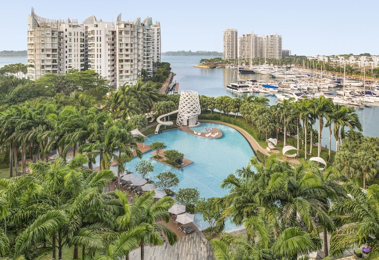W Singapore - Sentosa Cove (SG Clean), Singapore, Spectacular Room, Room, 2 Double Beds, Balcony, Marina View, Beach/Ocean View
