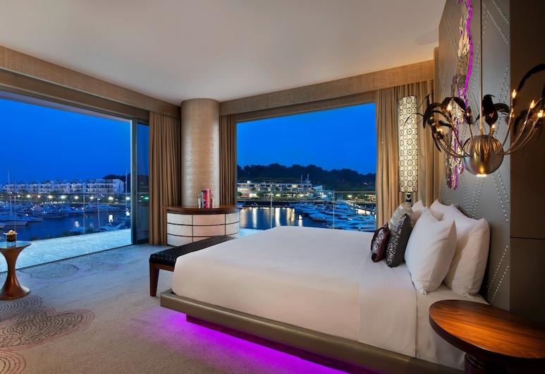 W Singapore - Sentosa Cove (SG Clean), Singapore, Marvelous Suite, Suite – junior, 1 soverom, balkong, Utsikt mot vann