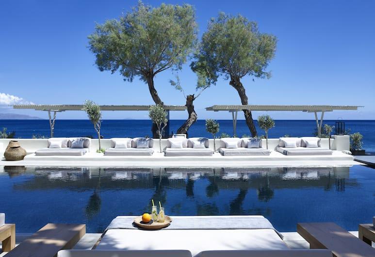 Bellonias Villas, Santorini, Pool Waterfall