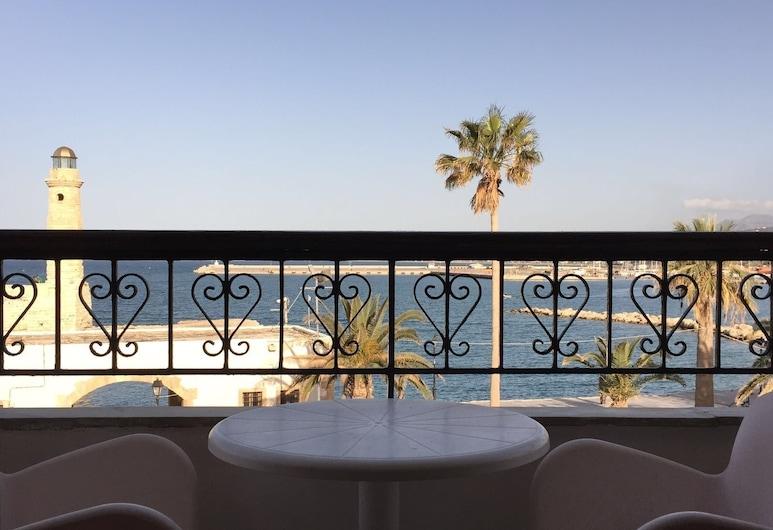 Faros Beach Hotel, Rethymno, Classic Twin Room, Balcony, Sea View, Balkoni