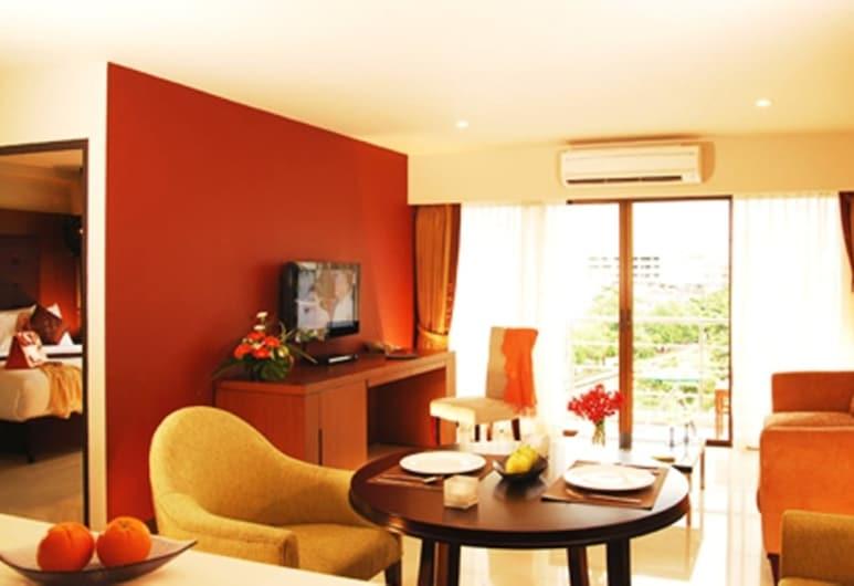 Ziniza The Boutique Service Apartment, Bangkok, Executive Suite, 1 King Bed, Living Room