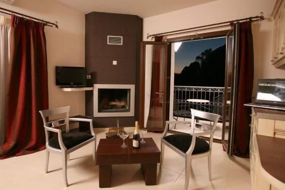 Superior Double Room (Meteora View) - Living Area