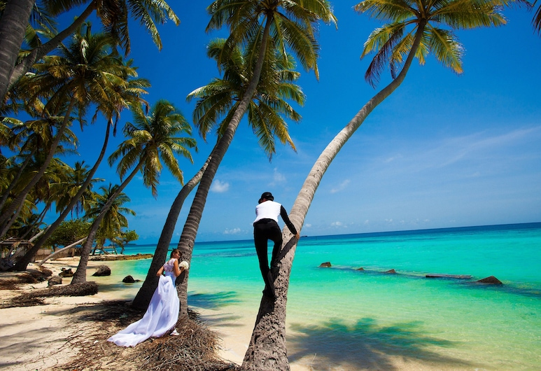 Stingray Beach Inn, Maafushi, Ranta
