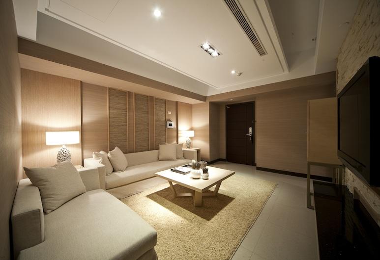 京站國際酒店式公寓, 台北市, 豪華兩臥室(1間單人間+1間雙人間), 客廳