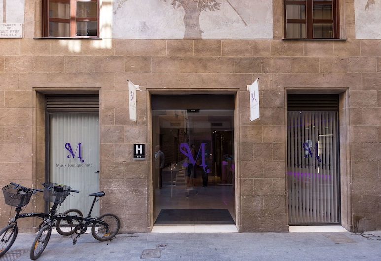 Musik Boutique Hotel, Barcelona, Entrada do hotel