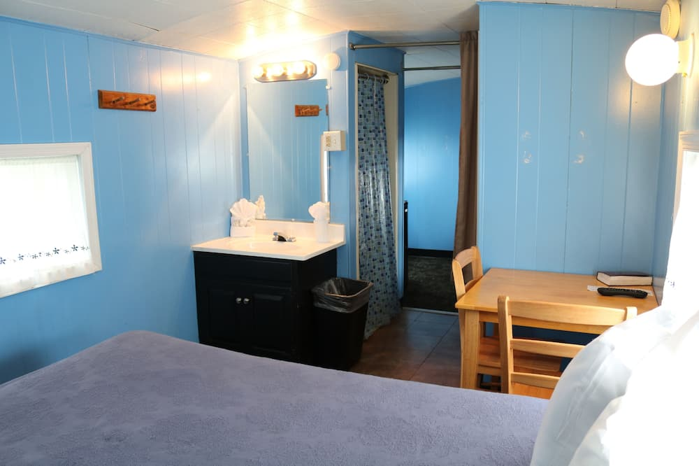 Small Family Caboose, 1 Double Bed and 2 Single Bunks - Bathroom