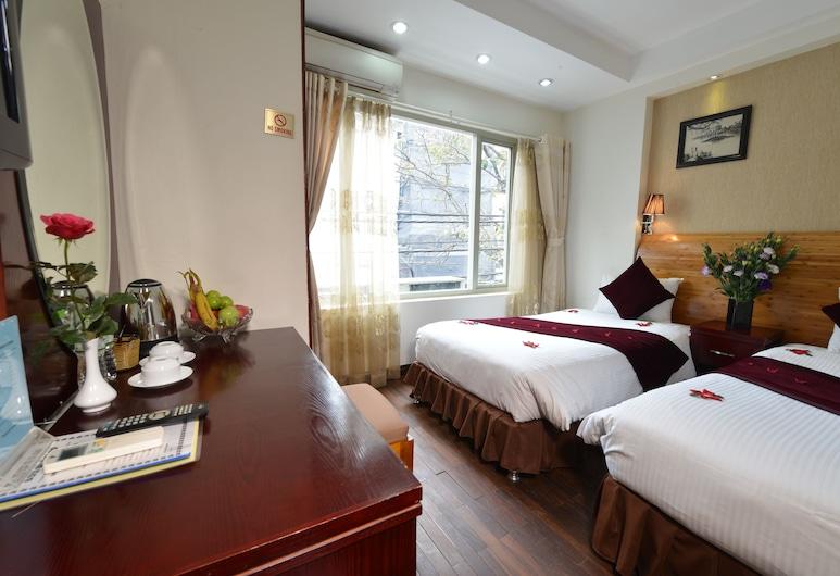 B & B ハノイ ホテル & トラベル, ハノイ, デラックス ルーム ダブルベッド 1 台またはシングルベッド 2 台, リビング エリア