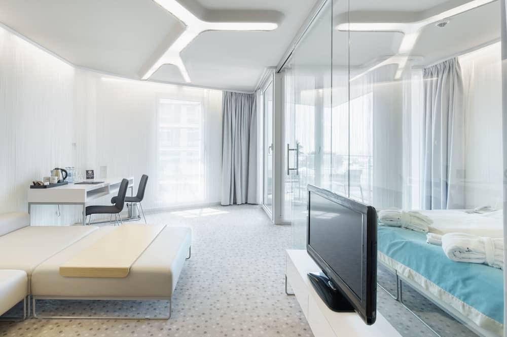 Luxury Double Room, Sea View - Living Area