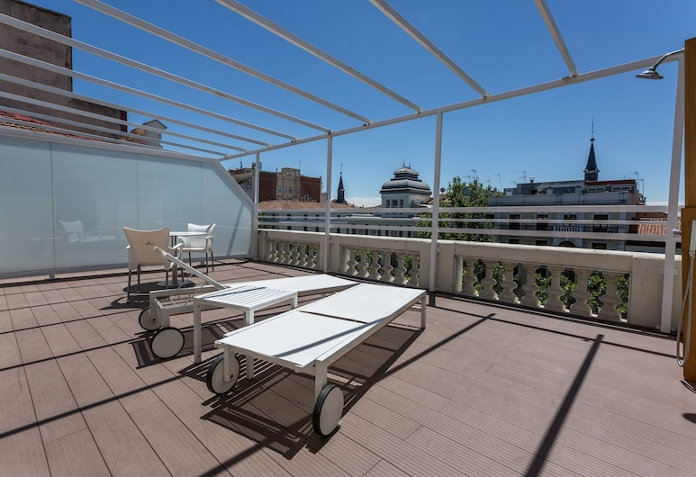 Petit Palace Lealtad Plaza, Madrid, Chambre Supérieure, terrasse, vue ville, Terrasse/Patio
