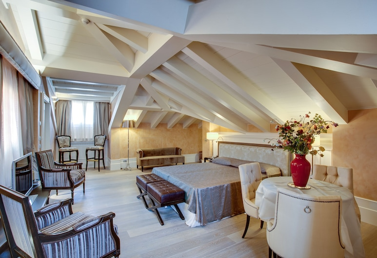 Hotel Moresco, Benátky, Apartmá s ložnicí a obývacím koutem, Pokoj
