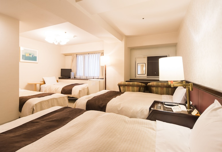 Hiroshima Kokusai Hotel, Hiroshima, Quadruple Room, Non Smoking, Guest Room