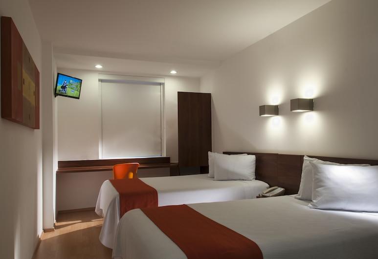 One Xalapa Las Animas, Xalapa, Habitación doble superior, 2 camas dobles, Habitación