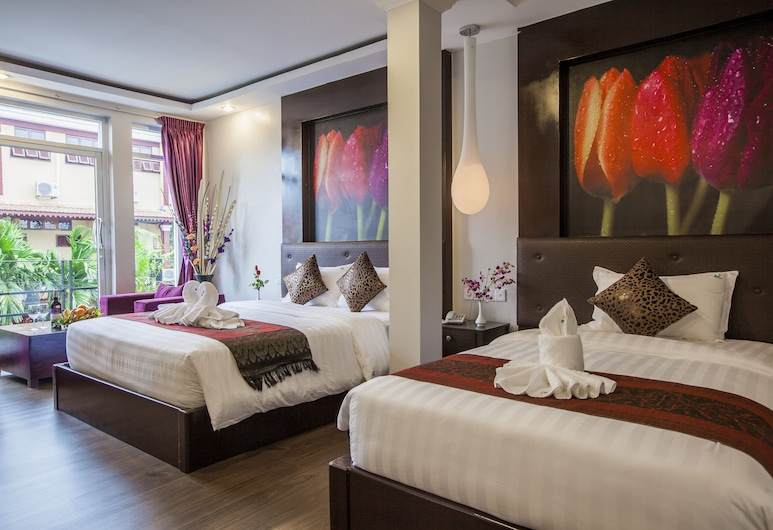 Xin Lan Xin Hotel, Phnom Penh, Deluxe Twin Room, Balcony, Guest Room