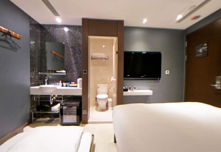 俞美精品飯店, 台北市, 精緻客房, 1 張標準雙人床及 1 張梳化床, 客房