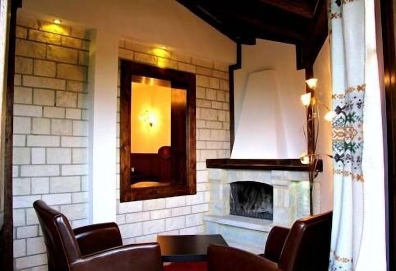Taxiarches Hotel, Zagori, Hotellin lounge