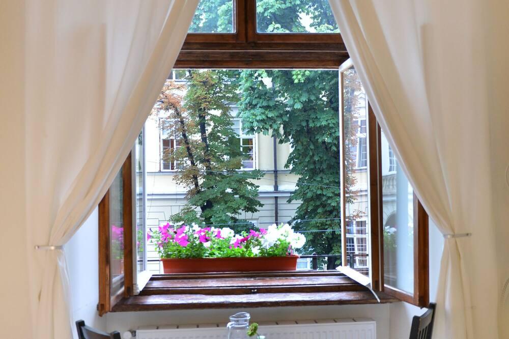 Aukštesnės klasės dvivietis kambarys, vaizdas į miestą - Vaizdas iš svečių kambario