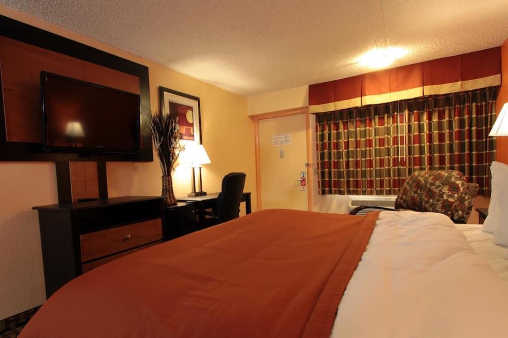 Chambre, 1 très grand lit, fumeurs - Chambre