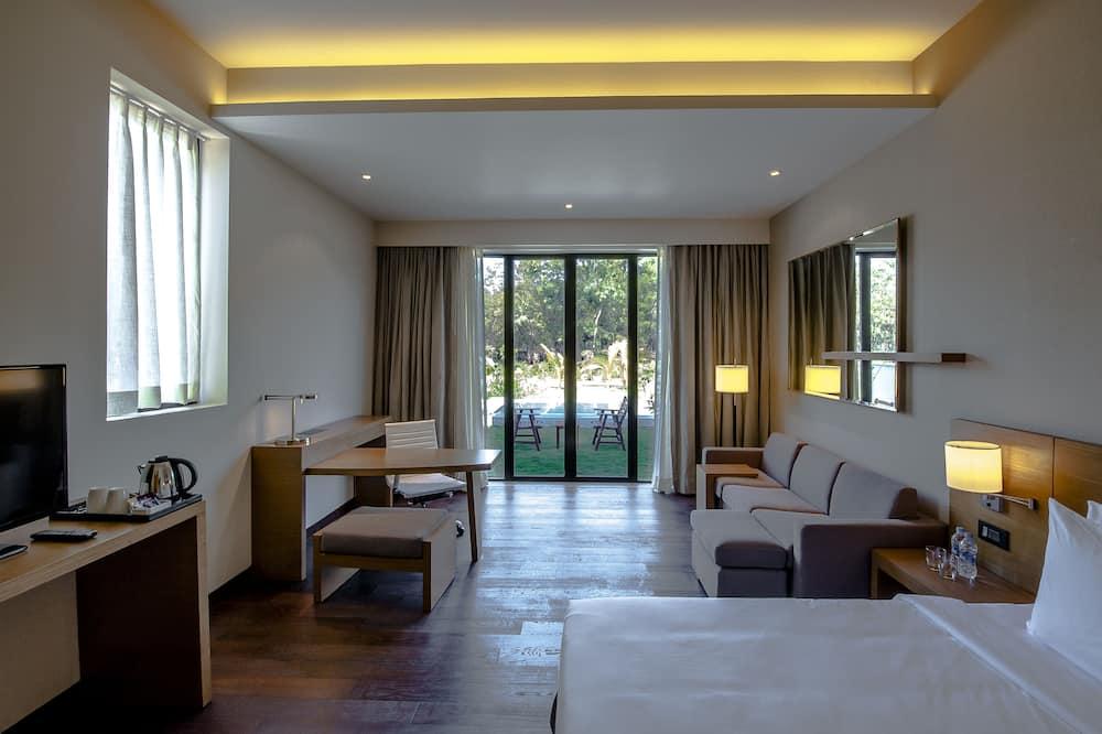 Kambarys, 1 labai didelė dvigulė lova ir sofa-lova (Specialty, Large) - Balkonas