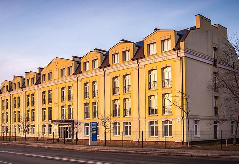 Raziotel Kyiv, Kyiv, Průčelí hotelu