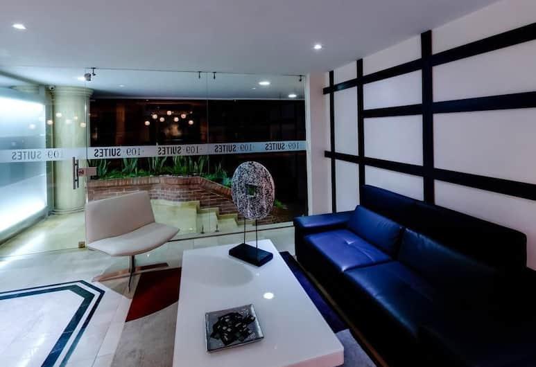 109 Suites, Bogotá, Salottino della hall