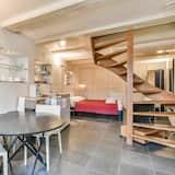Двухместный номер «Делюкс» с 1 двуспальной кроватью, вид на канал - Обед в номере