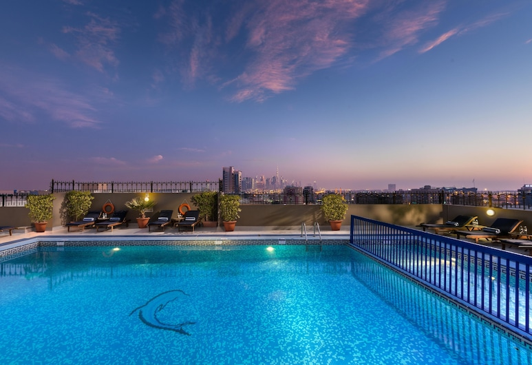 Savoy Central Hotel Apartments, Dubaj, Executive Studio with Balcony, Terasa