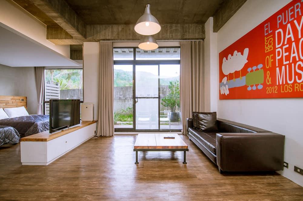 四人房, 2 張標準雙人床, 山景 - 客廳